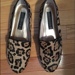 Leopard hair calf loafer